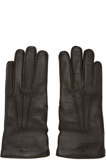 Belstaff - Brown Leather Buckle Gloves