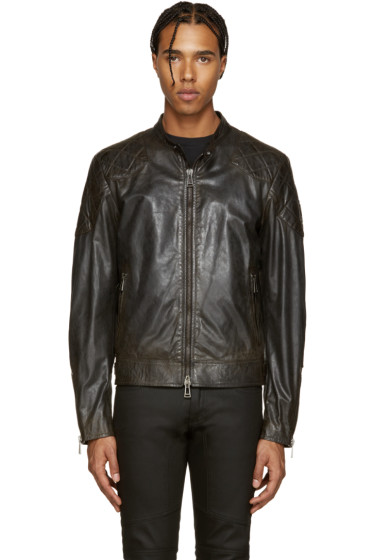 Belstaff - Black Leather Outlaw Jacket