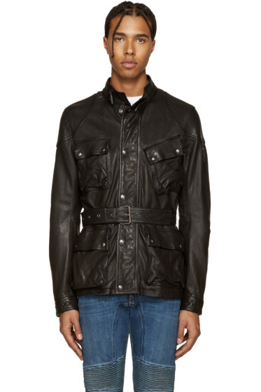 Belstaff - Black Leather Speedmaster Jacket