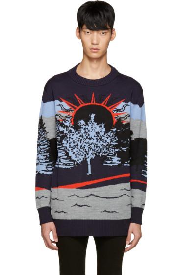 Diesel Black Gold - Navy Jacquard Sweater