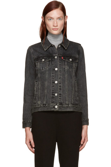 Levi's - Black Denim Boyfriend Trucker Jacket