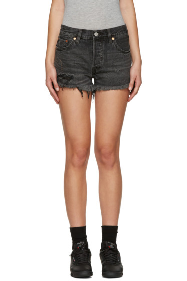 Levi's - Black 501 Denim Shorts