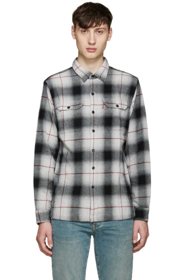 Levi's - Grey Plaid Worker Shirt
