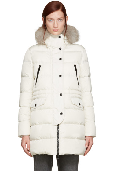 Moncler - Ivory Fur & Down Fragonette Coat