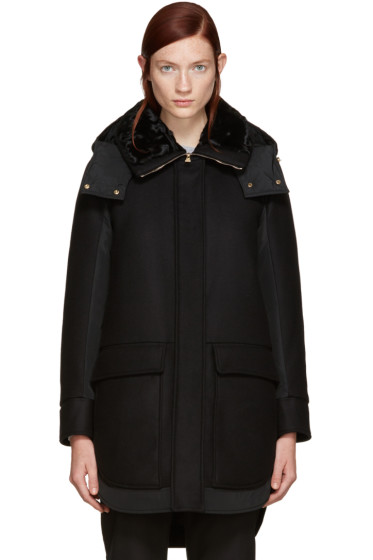 Moncler - Black Down Nomia Coat