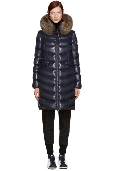 Moncler - Navy Down Aphia Coat