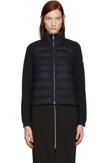 Moncler - Navy Down Panel Jacket
