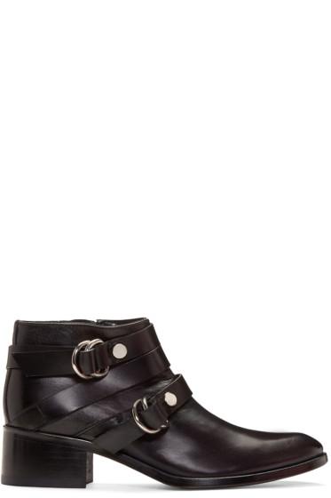 McQ Alexander Mcqueen - Black Ridley Harness Boots