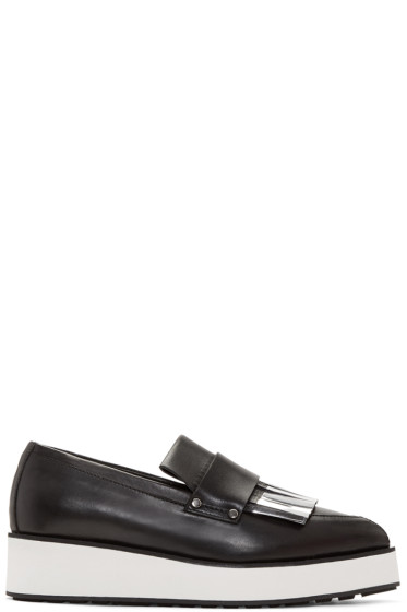 McQ Alexander Mcqueen - Black Fringed Manor Loafers