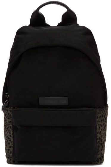 McQ Alexander Mcqueen - Black Nylon Leopard Backpack