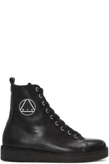 McQ Alexander Mcqueen - Black Crepe Sole Boots