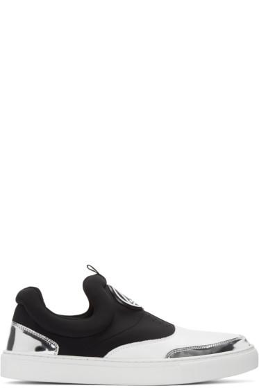 McQ Alexander Mcqueen - Black & White Youko Mid-Top Sneakers