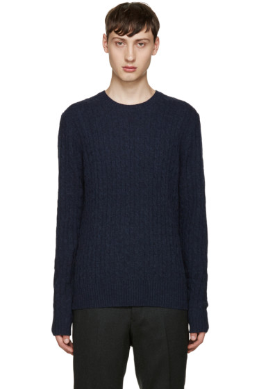 Tiger of Sweden - Navy Cable Knit Lauel Sweater