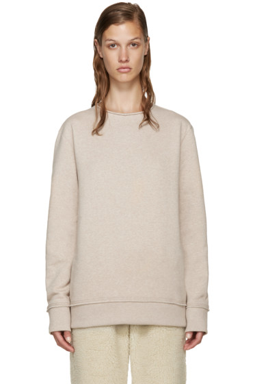 Acne Studios - Beige Fleece Carly Pullover