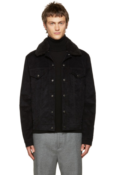 Acne Studios - Black Corduroy Beat Jacket