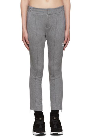 Y-3 - Grey Cropped Lounge Pants