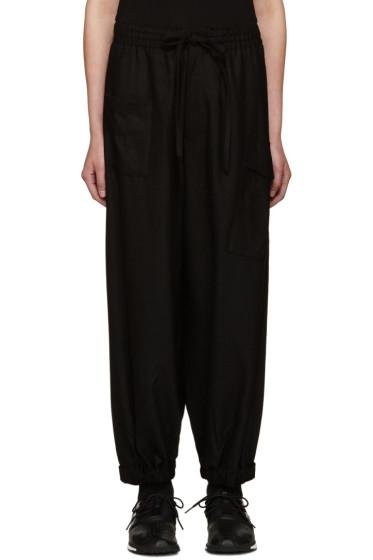 Y-3 - Black Wool Cropped Lounge Pants