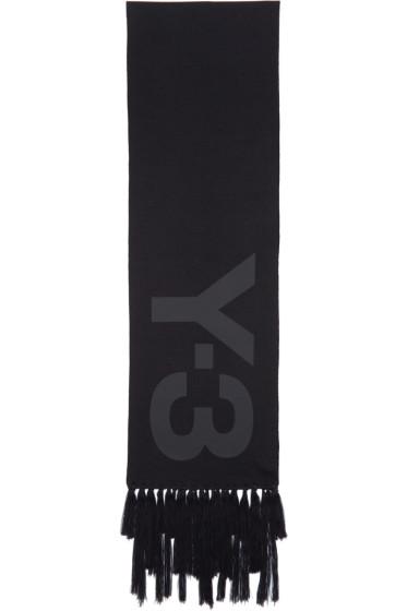 Y-3 - Black Logo Scarf