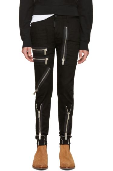 Dsquared2 - Black Zippered Military Jeans