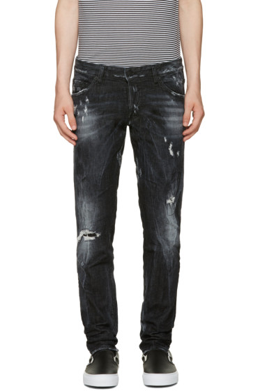 Dsquared2 - Black Distressed Clement Jeans