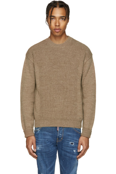 Dsquared2 - Camel Military Knit Sweater