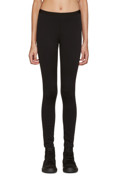 Helmut Lang - Black Scuba Leggings