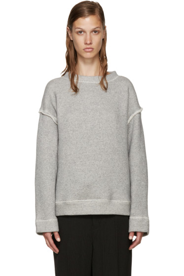 Helmut Lang - Grey French Terry Pullover