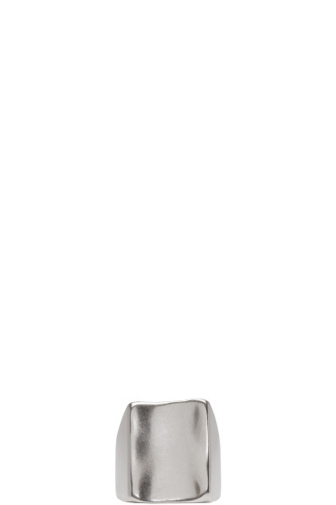 Maison Margiela - Silver Wide-Face Ring