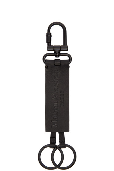 Maison Margiela - Black Leather Keychain