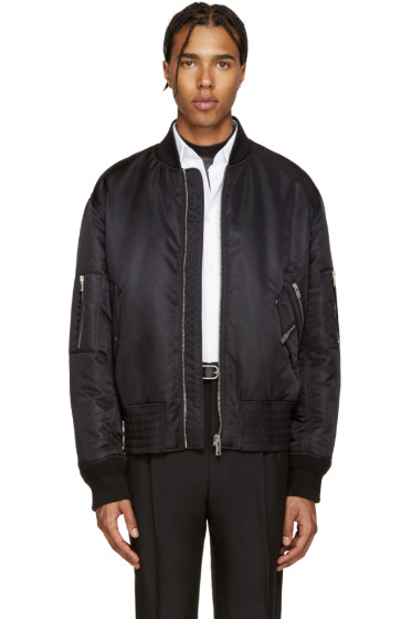 Maison Margiela - Black Nylon Bomber Jacket