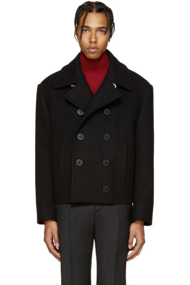 Maison Margiela - Black Wool Peacoat