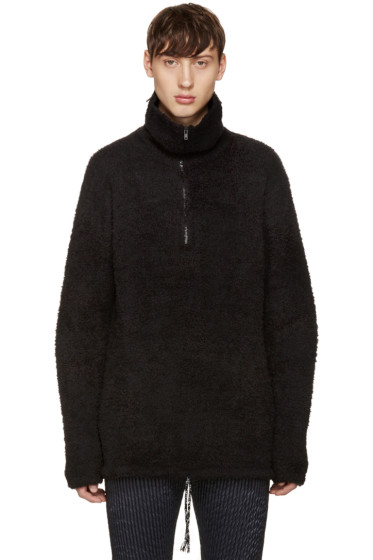 Maison Margiela - Black Zippered Turtleneck