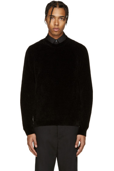 Maison Margiela - Black Ribbed Sweater