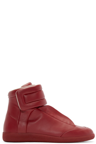 Maison Margiela - Red Future High-Top Sneakers
