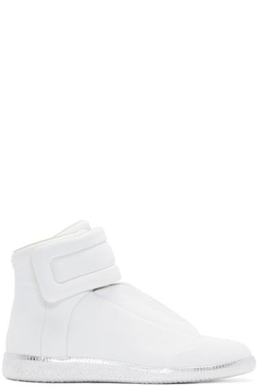 Maison Margiela - White & Silver Future High-Top Sneakers
