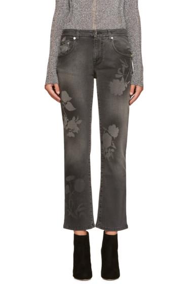 Christopher Kane - Grey Spray Paint Jeans