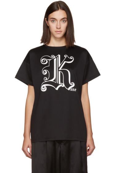 Christopher Kane - Black 'Kane' T-Shirt