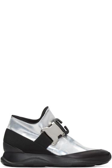 Christopher Kane - Silver & Black Spoiler High-Top Sneakers