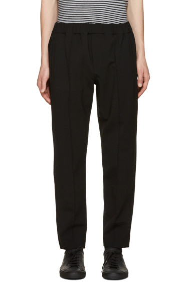 Alexander Wang - Black Pin-Tuck Trousers