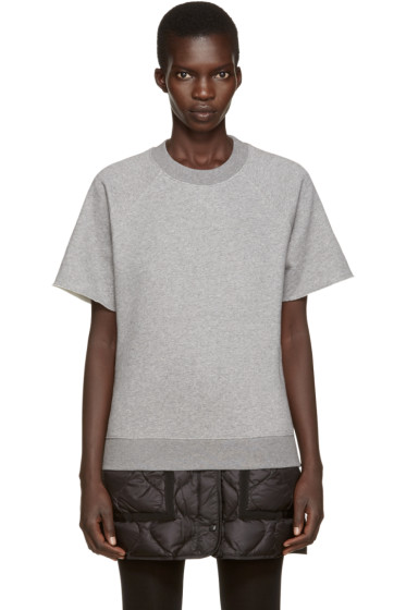 MM6 Maison Margiela - Grey Short Sleeve Sweatshirt