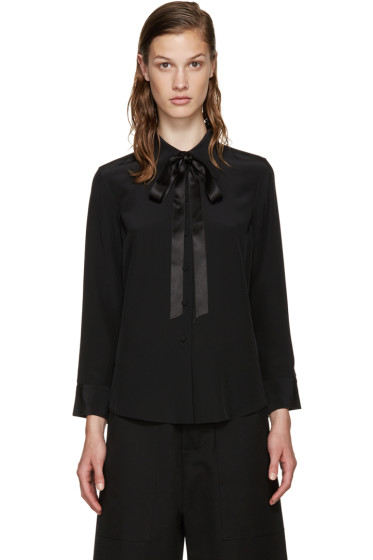 Marc Jacobs - Black Silk Tie Shirt