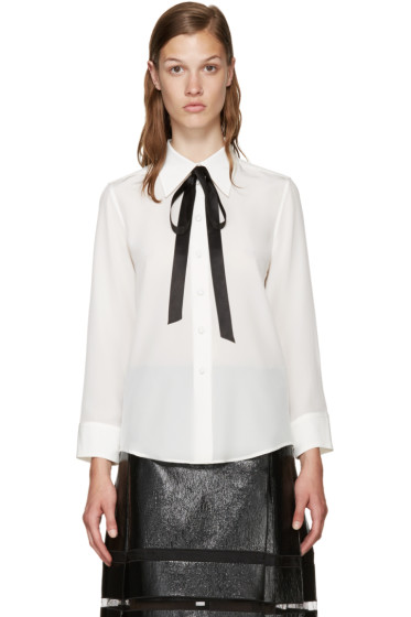 Marc Jacobs - White Silk Tie Shirt