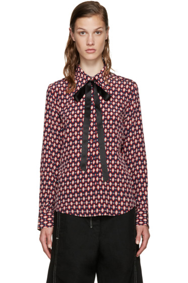 Marc Jacobs - Multicolor Silk Tie Shirt