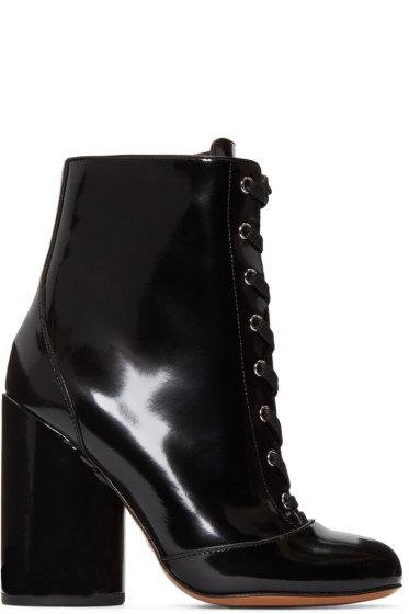 Marc Jacobs - Black Lace-Up Tori Boots