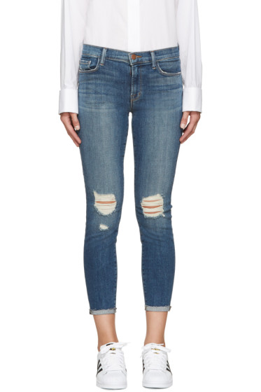 J Brand - Blue Mid-Rise Capri 835 Jeans