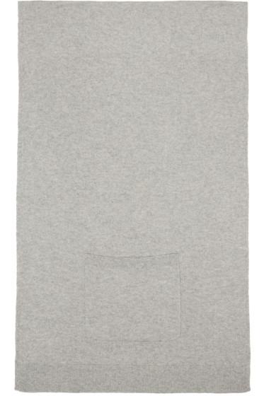 T by Alexander Wang - Grey Cashwool Patch Pocket Scarf