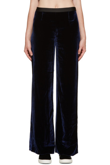T by Alexander Wang - Navy Velvet Lounge Pants