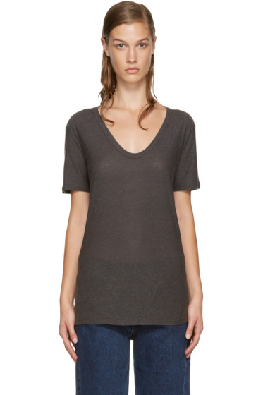 T by Alexander Wang - Grey Slub T-Shirt