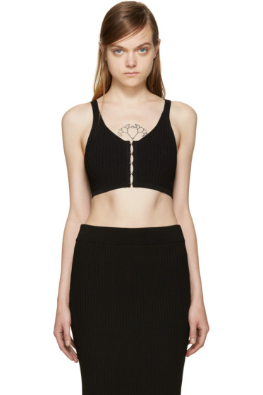 T by Alexander Wang - Black Cropped Tank Top