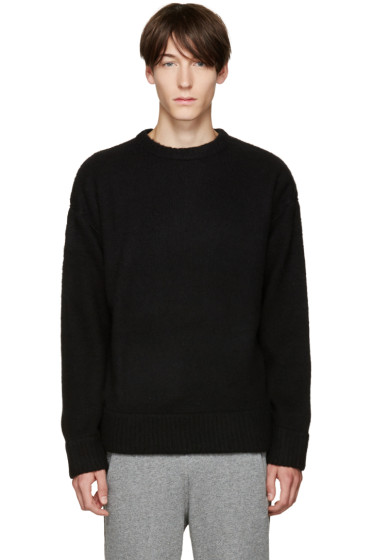 T by Alexander Wang - Black Wool Piped Sweater